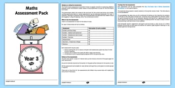 Year 3 Maths Assessment Overview - maths, numeracy, assessments