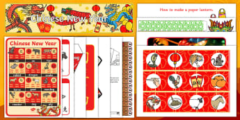 Chinese New Year Discover and Learn Display Pack - year of the dog, china, festival, celebrations,