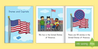 States and Capitals eBook - States and Capitals, USA States, US States, United States, US Capitals, USA Capitals, US Capital Cit