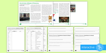 Defenders of Democracy Differentiated Comprehension Go Respond  Activity Sheets - Secondary - Event - General Election 08/06/2017, comprehension, George Orwell, Animal Farm