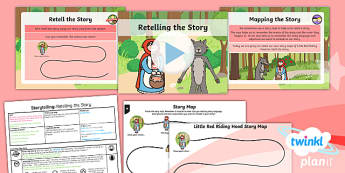 Traditional Tales: Little Red Riding Hood: Storytelling 3 Y1 Lesson Pack - Traditional stories, fairytales, fairy tales, fairy stories, familiar stories