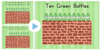 Ten Green Bottle Story PowerPoint - australia, story, powerpoint