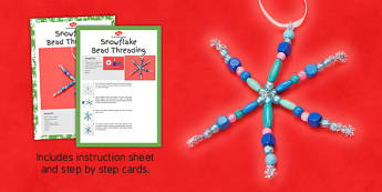 Snowflake Threading Craft Instructions - snowflake, craft, thread