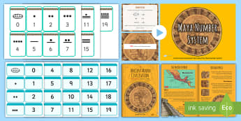 Ancient Mayan Number System CfE Second Level Resource Pack - Ancient, Maya, systems, impact, world, wider,,Scottish