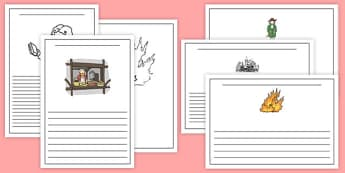 The Great Fire of London Writing Frames Lined -  the great fire of london, writing frames, the great fire of london writing frames, writing templates