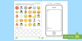 All About Me Emoji Worksheet / Activity Sheet Te Reo Māori - All About Me, Ko Ahau, Te Reo Māori, Emoji Worksheet / Activity Sheet, Me, worksheet
