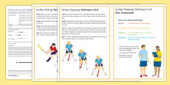 Hockey Lesson 2: Strike and Stop - Winter sport, invasion game, scheme, lesson plan