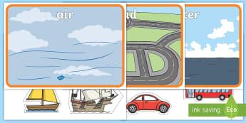 Transportation Sorting Mats Activity - transportation, sorting mats, transportation sorting, types of transportation, vehicles