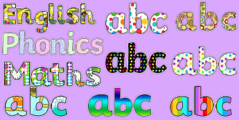 Classroom Display Board Lettering - Primary Resources
