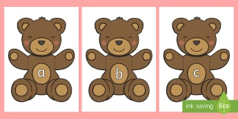 Phase 2 Phonemes on Teddy Bears - Phonemes, phoneme, Phase 2, Phase two, Foundation, Literacy, Letters and Sounds, DfES, display