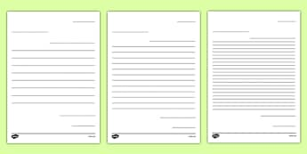 Friendly Letter Writing Paper - Letter to Future Teacher Writing Template Activity Sheet, worksheet