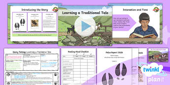 PlanIt Y4 Traditional Tales: The Three Billy Goats Gruff Lesson Pack Storytelling (1)