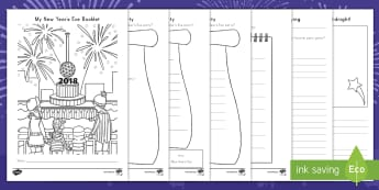 New Year's Eve Activity Booklet - New Year's Eve Party, Planning, Invitation Design, Differentiated Writing , Instruction Writing, Fi