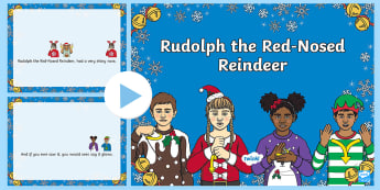 BSL Rudolph the Red-Nosed Reindeer Christmas Song PowerPoint -  - BSL Christmas Resource, Rudolph the Red Nosed Reindeer, Christmas Song, Sign Support, British Sign L