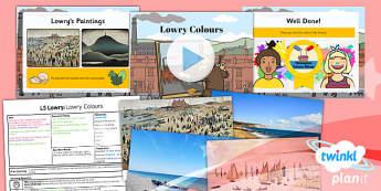 Art: LS Lowry: Lowry Colours KS1 Lesson Pack 2