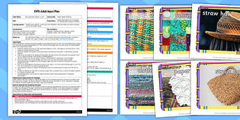 Paper Napkin Weaving EYFS Adult Input Plan and Resource Pack