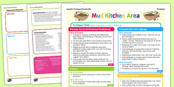 Mud Kitchen Continuous Provision Plan Posters Nursery FS1 - outdoor plan