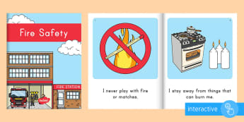 Fire Safety Emergent Reader eBook - fire safety, emergent reader, ebook, fire safety ebook, keeping safe, personal safety, fire safety r