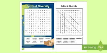 Cultural Diversity Word Search - English (Australian) - ACHASSK140, Year 6, AC, Geography, vocabulary, word recognition, metalanguage, spelling,Australia