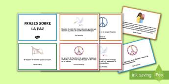 Tarjetas informativas frases del día de la paz - Día de la Paz, Gandhi, violencia, convivencia, conflictos, mediación, paloma, paz, frases, citas,