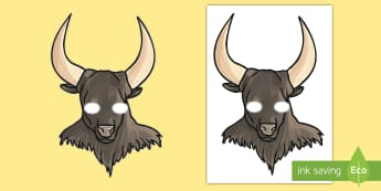 Minotaur Role Play Masks - Theseus and the Minotaur Story Mask - story, cut out, books, greek myth, odysseus, minotour