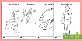 EYFS Lions Rugby Tour Colouring Pages - EYFS, Early Years, Nursery, Reception, KS1, Key Stage One, Key Stage 1, Year 1, Year One, Year 2, Ye