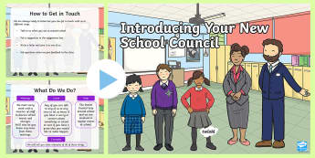 Introducing Your New School Council Assembly Pack - school council, powerpoint, children's assembly, leaders, charity