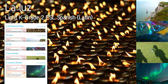 Imagine Light K-Grade 2 Resource Pack Spanish (Latin) - Diwali, Diva Lamps, Lighthouse, Light, Compact Disc, Shadows, Northern Lights, ESL, EAL, Spanish-tra