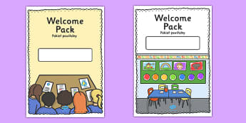 Editable Welcome Pack Covers (Portrait) Polish Translation - polish, Welcome Pack, editable, cover, back to school, welcome pack, welcome, starting school, all about me, about me, starting nursery, starting KS1