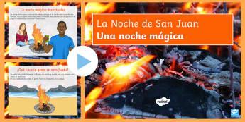 St. John's Eve PowerPoint Spanish - festivities, parties, culture, Spain, events, traditions, Saint, john, San, Juan, PowerPoint, Presen