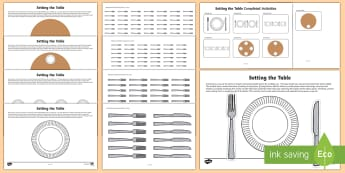 Workstation Pack: Setting the Table Activity Pack - TEACCH, workstation packs, life skills, maths p4, maths p5, p scales, laying the table, ASDAN