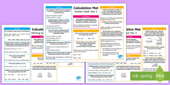 Year 5 Addition, Subtraction, Multiplication and Division Differentiated Maths Mats - KS2 Maths, Year 5, Y5, addition, subtraction, multiplication, division, maths maths