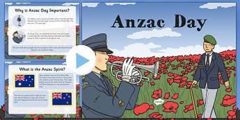 Anzac Day Information PowerPoint Lower School - australia, ANZAC Day, commemoration, First World War, WW1, World War One, information, PowerPoint, History, Dawn Service, parade, Gallipoli