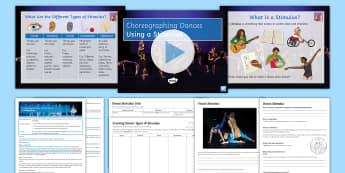 Introduction to Choreography: Using Stimulus Lesson Pack 1 - dance, GCSE Dance, choreography, stimulus, improvisation, KS3 Dance, KS4 Dance, creating dance, danc