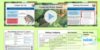 Animals: The Hodgeheg: Story Writing 1 Y3 Lesson Pack To Support Teaching on 'The Hodgeheg' - Dick King-Smith, Animals, Hedgehogs, Autumn, Road Safety
