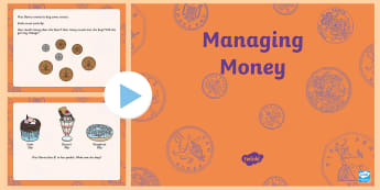 Cinema Themed Year 2 Managing Money PowerPoint - money, managing Money, year 2, food, cinema, numeracy,Mathemateics, profit, loss,Welsh