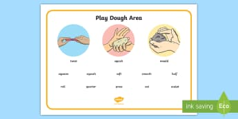 Playdough Area Word Mat - Art Instructions Word Mat - instructions, art, word mat, design, wordmat, playdough