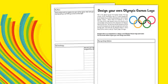 Redesign the Olympic Games Logo Activity Sheet - design, logo, Rio, Olympics, 2016, motto, symbol, planning sheet, worksheet
