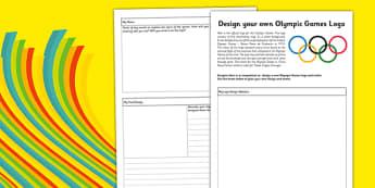 Redesign the Olympic Games Logo Worksheet / Activity Sheet - design, logo, Rio, Olympics, 2016, motto, symbol, planning sheet, worksheet