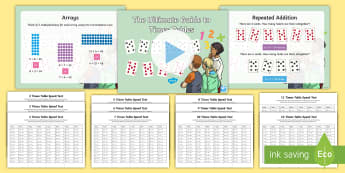 KS2 Ultimate Home Guide to Times Tables Activity Pack - times tables practice, times tables guide, ks2 all times tables, times tables speed tests, times tab
