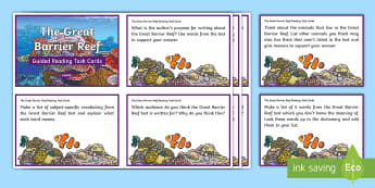 Great Barrier Reef Guided Reading Challenge Cards - Australian landmark, guided reading, comprehension, reading groups, australian geography, literacy,A