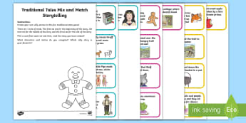 Traditional Tales Mix and Match Storytelling Activity - National Storytelling week, traditional tales, fairy tales.