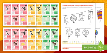 Chinese New Year Maths Activity Pack - Chinese New Year, Algebra, Bidmas, Top Trumps, Colouring, Equivalent Fractions, bumper