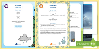 Weather Sensory Bin and Resource Pack - sun, sunny, rain, rainy, thunder, lightening, sensory tray, tuff spot, tuff tray
