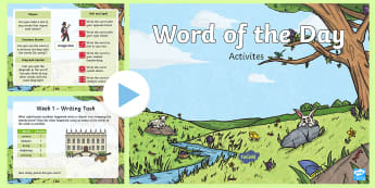 Year 1 Spring 2 Word of the Day PowerPoint - Spellings, Patterns, Rules, English, Literacy