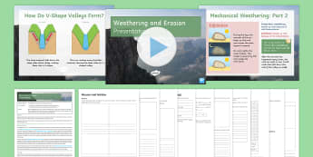 Weathering and Erosion Lesson Pack - Journey of a river, source, mouth, tributary, confluence, rivers, watershed, basin, floodplain, weat