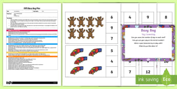 EYFS Toy Counting Busy Bag Plan and Resource Pack - Toys, numeral, peg, count, toy counting