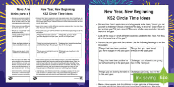 KS2 New Year Circle Time Teaching Ideas English/Portuguese - New Year, new, new beginning, calendar, January, February, March, April, May, June, July, August, Se