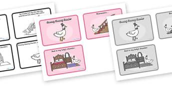 Goosey Goosey Gander Sequencing (4 per A4) - Goosey Goosey Gander, nursery rhyme, sequencing, rhyme, rhyming, nursery rhyme story, nursery rhymes, Goosey Goosey Gander resources