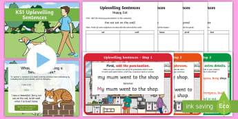KS1 Uplevelling Sentences Activity Pack - Uplevel, Edit And Improve, improve sentences, Subordinating Conjunctions, Adding Extra Detail, Doubl